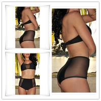 Free Shipping! Factory Price! Black color!New Arrival Sexy Bikini Swimwear Hot-selling speaical model BikiniWholesale and Retail