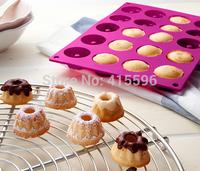 Germany Brand Silicone Savarin Moulds Pudding and Chocolate Bakeware Chiffon Mini Cake Mold + Free Shipping