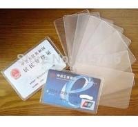 wholesale100pcs/lot  transparent Card Slip Case,bank card case , Sleeve Protective Protector Polyethylene Holder ID credit case