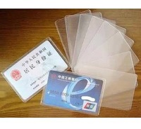 wholesale100pcs/lot  transparent Card Slip Case,bank card case , Sleeve Protective Protector Polyethylene Holder ID credit case