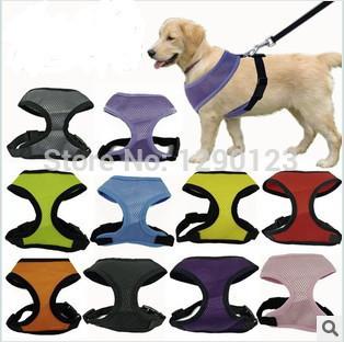 1pcs/lot gratis verzending 4 kleuren 5 maten beschikbaar van hoge kwaliteit mesh harnas hond, puppy harnas comfort!!!