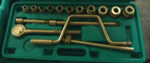 "Al-Br 1/2"" Dr Socket Set 17pcs--------------Non Sparking Tools Hand Tools(China (Mainland))"