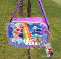 EMS 50pcs factory price frozen Princess Queen Elsa Girls School Shoulder Tote Bag Handbag gift for girls 001