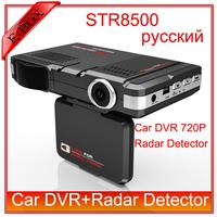 "High Quality STR8500 Car Radar Detector DVR Camera HD 720P 120 Degree View Angel  2.0""LCD GPS Logger Free shipping"