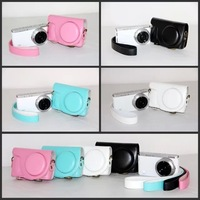 NEW Camera Leather case bag cover for Samsung NX mini NX-mini 9mm lens with strap