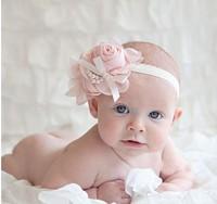 Cute baby girl princess pearl&flower party  hair accessories headband cheap free shipping