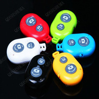 6pcs new 2014 wireless bluetooth remote camera shutter release Self-timer for android phone and IOS