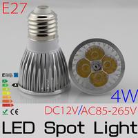 10PCS/LOT 4W led bulb DC12V / AC85-265V led Spotlight E27 MR16 GU10 GU5.3 for home FREE SHIPPING