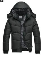 Free shipping New 2014 fashion brand autumn winter men's plus size Korean cotton down jacket outdoors hooded jaqueta masculina