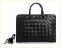 real leather man bag laptop briefcase shoulder bag business men leather briefcase 2014 brand men's travel bags