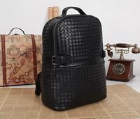 black leather backpack New 2014 Women Backpacks Designer Brand Backpack Hiking Backpacks men's Leather Black Desigual Bag