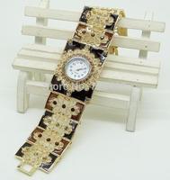 2014 Brand New Exquisite Rhinestone 3 Colors Flower Women's Decorative Casual Dress Party Dance Gift Bracelet Bangle Wrist Watch
