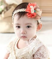 Double color chiffon flower children headband cheap 2014 new