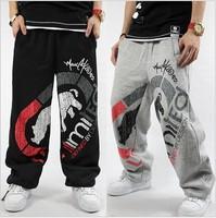 Lovers SweatPants Sport Pants Hip Hop Designer Cotton Fashion Rhino Print Man Women Casual Trouser Black/Gray Hip-Hop ZL5013