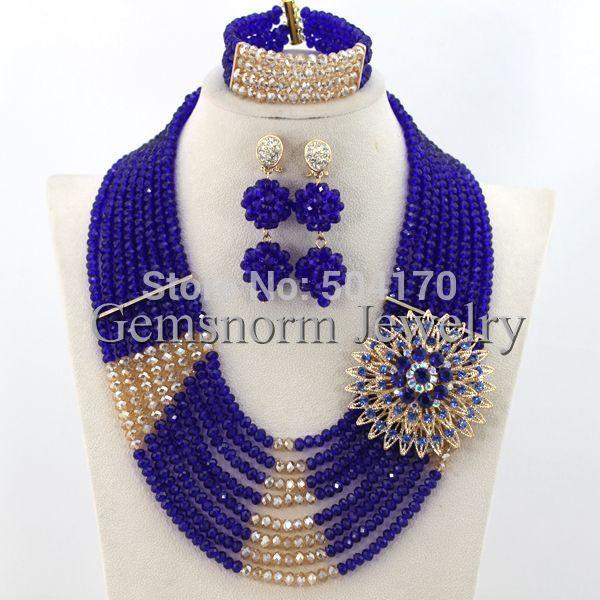 2015 Unique Multicolored Indian Wedding Crystal Jewelry Set Handmade  Nigerian Beaded Jewelry Set Christmas Free Shipping GS324 9cd21e5dbca8