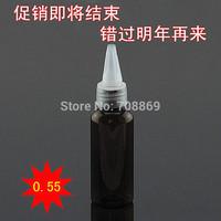 fast shipping! 1000pcs/lot! 50 ml ml brown bottle cap sharp beak brown nipple bottle PET bottle plastic vial dispensing Trial