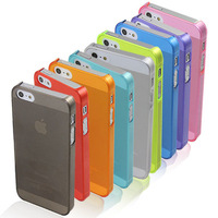 Brand New Ultra-Slim TPU Plastic Protector Case Back Cover for iPhone 5 5S 9 Colors