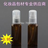 fast shipping! 1000pcs/lot! 50 milliliters (ml) tan lotion bottle cosmetic travel bottle PET  plastic vials Beak dark brown powd