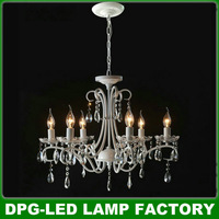 Modern new led white big crystal chandeliers cheap candelabro lights lustres de casa sala lamps dining room home decorative c08