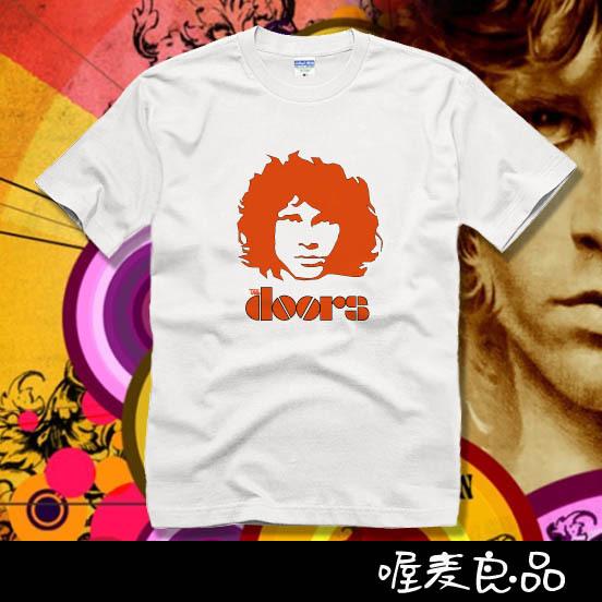 2014 lovers male short-sleeve t-shirt the door of the jim morrison doors high quality 100%cotton t shrit men & women(China (Mainland))