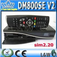 5pcs/lot DM800se V2 DVB-S satellite Receiver DM800HD se V2 with SIM2.20 V2 1GB Flash Memory & 512MB RAM Free Shipping