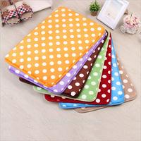 Free shipping 50cm*80cm,Soft,absorbent,non-slip dot slow rebound mats, bath mat, coral velvet carpet floor mats