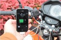 motorcycle charge Motor Scooter 12V Cigarette Lighter Outlet Socket  USB 5V Waterproof on GPS . MID . MP3. Mobilephone