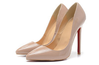 Free Shipping New Arrival Brand Designer 12cm Beige Women Pumps Women High Heel Shoes 2014 Genuine Leather Wedding Shoes