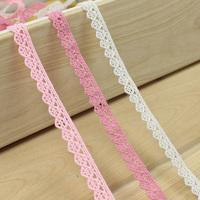 10M/lot 1.0cm Width 3colors Cotton Lace Trim for Sewing,DIY Garment Accessories,Handmade Lace decoration materials