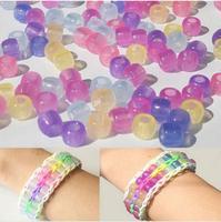 500pcs UV Magic Colorful Changing Pony Beads For Loom DIY Bracelet Crafts