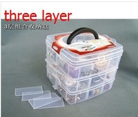 1pcs small size plastic Storage box  Loom rubber storage box Toy socks Storage  box three layer storage box with cover
