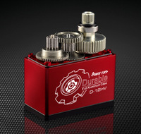 POWER HD D-12HV,HV Coreless Motor Digital Servo, Meta Titanium & Alu Gear,Torque 12KG,speed 0.06 Sec,Compatible FUTABA JR SAVOX