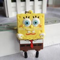 Free shipping Wholesale 10pcs/lot pen drive cartoon Sponge Bob 2gb-32gb SquarePants usb flash drive  flash memory stick pendrive