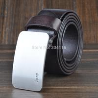 Classical designed genuine leather belt buckle for men