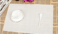 luxury hotel restaurant woven vinyl placemat grid+many color selection 45*30 high density