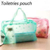Clear plastic PVC waterproof wash bag / toiletries bag Cosmetics / Storage