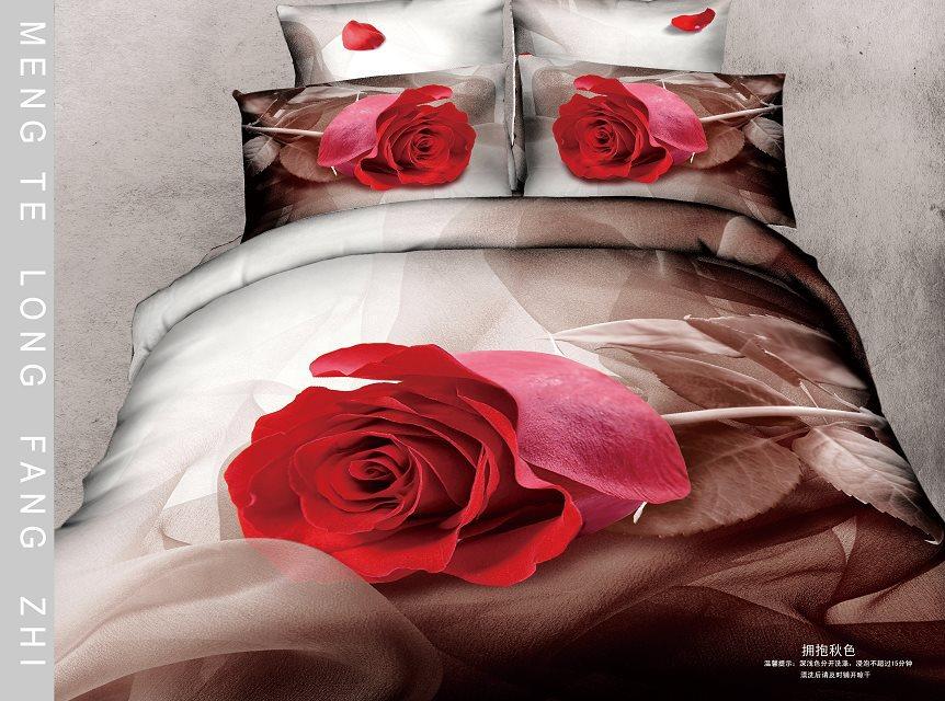 4 pcs luxo conjuntos de cama de algodão roupa de cama capa de edredão set(China (Mainland))