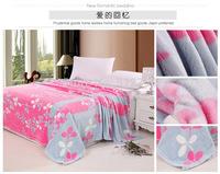 Free shipping printing summer warm fleece blanket  throw bedspread quilts sofa manta  230*200 cm