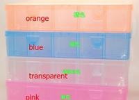 1pcs 12 grids detachable Loom kit plastic box Storage box jewel case fishing box Loom rubber storage box