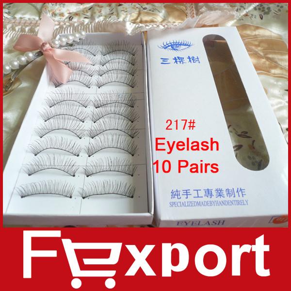 Cheap False Eyelashes 10 Pairs Natural High Quality Fake Eyelash Extension Professional 217(China (Mainland))