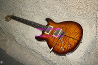 Wholesale -  Left Handed Brown Wave Santana Electric Guitar Wholesale OEM Musical instruments