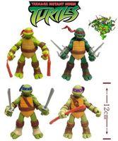 "Details about 4 Pcs/ 4.7"" Teenage Mutant Ninja Turtles TMNT Figure toys Set Classic action figures toys Collection"