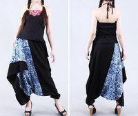 [LYNETTE'S CHINOISERIE - LEGEND] National trend women spring autumn trousers plus size casual women's harem pants culottes k056