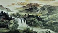 Mural tv background wall 3d landscape wallpaper libang wallpaper 46 waterfall