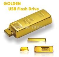 Free DHL shipping  2014 NEW Metal real 8GB Gold bar u disk USB 2.0 Flash pen drive memory card car key