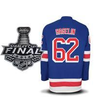 FREESHIPPING  #62 CARL HAGELIN 2014 FINAL PATCH ICE HOCKEY JERSEYS SZ 48 50 52 54  M L XL XXL