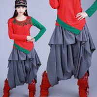 [LYNETTE'S CHINOISERIE - LEGEND] National trend women's spring and autumn plus size pants harem pants harem pants k307