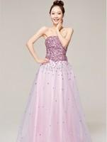 Free Shipping Uncommon 2014 Fashion Bright Evening Dress
