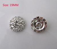 Free Shipping Wholesale 50pcs/lot 19mm Rhinestone Flatback Button For Hair Flower Wedding Invitation YMBT03016