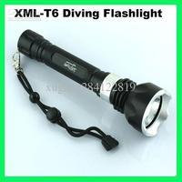 Wholesale - New Underwater Diving Flashlight Torch T6 LED Light Lamp Waterproof SLM-0235